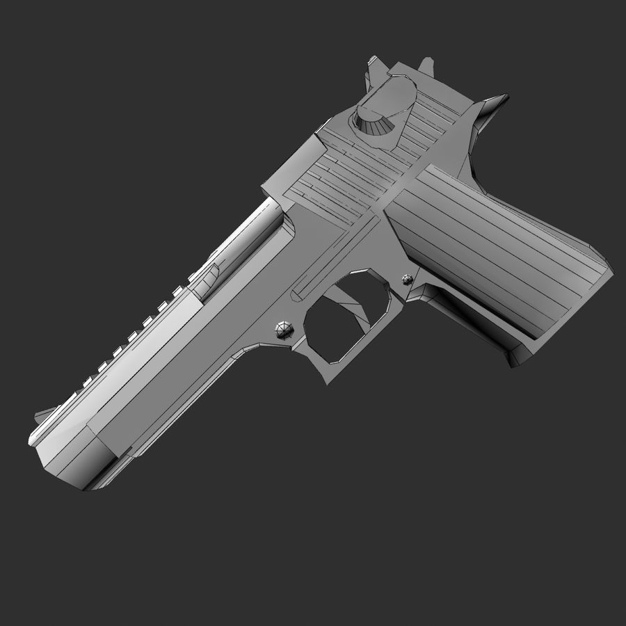 desert eagle royalty-free 3d model - Preview no. 6