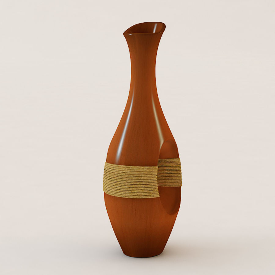 Wooden Vase IV royalty-free 3d model - Preview no. 5