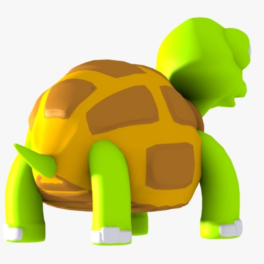 Turtle Character royalty-free 3d model - Preview no. 4
