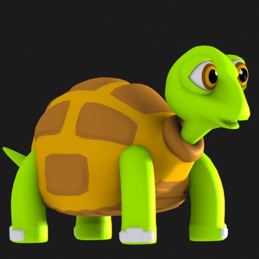 Turtle Character royalty-free 3d model - Preview no. 2