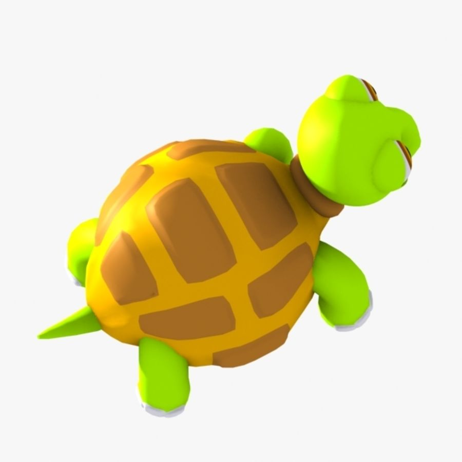 Turtle Character royalty-free 3d model - Preview no. 7