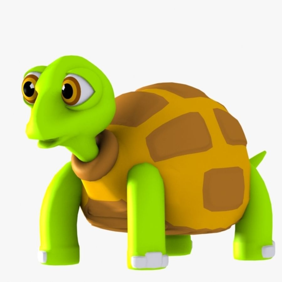 Turtle Character royalty-free 3d model - Preview no. 3