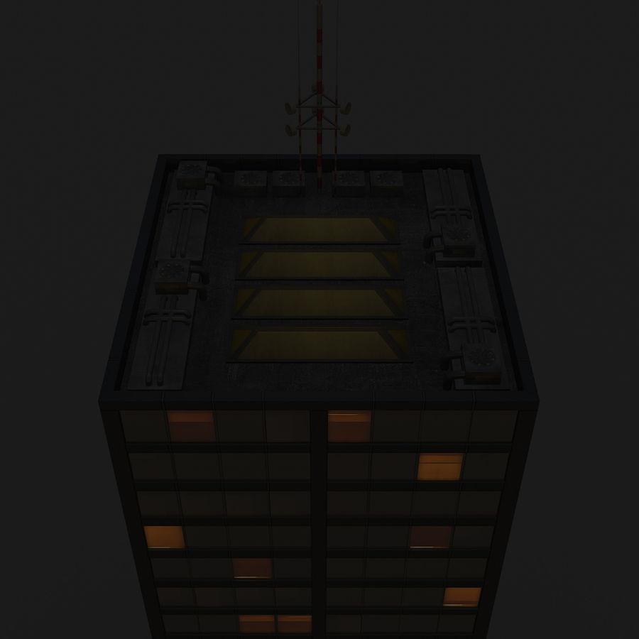 Skyscraper 11 - Day And Night royalty-free 3d model - Preview no. 17