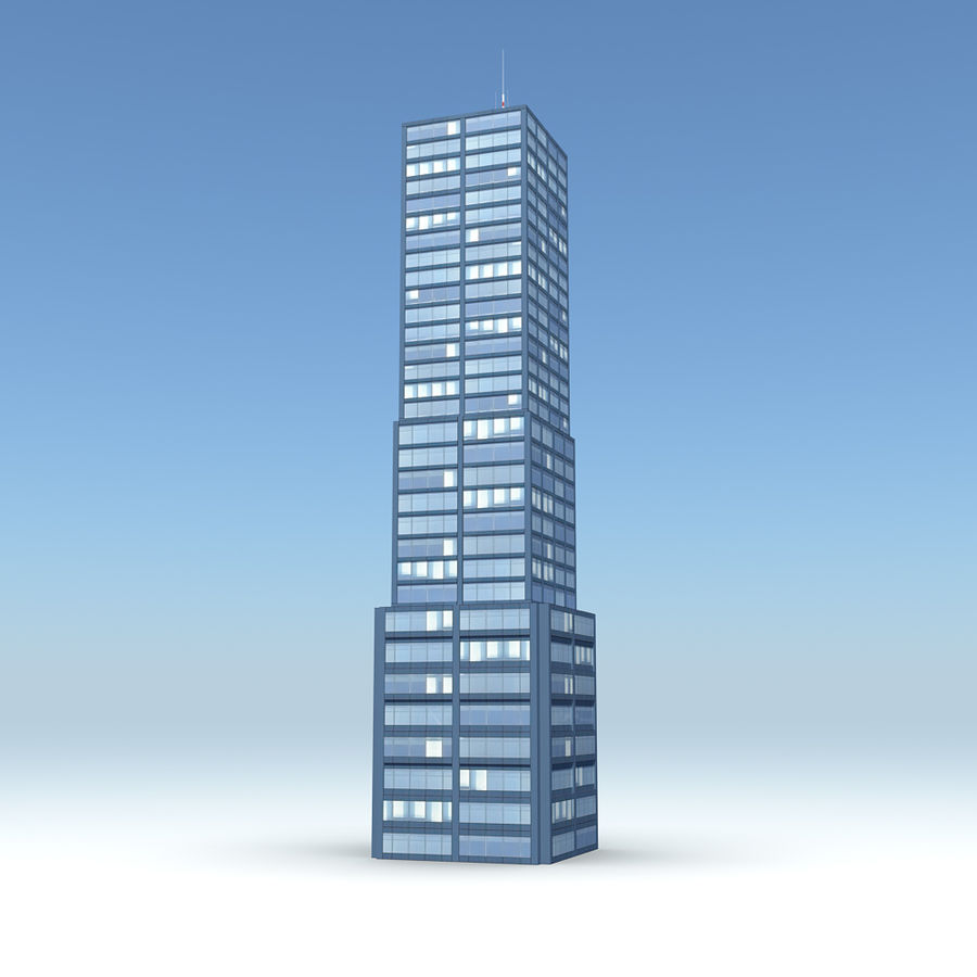 Skyscraper 11 - Day And Night royalty-free 3d model - Preview no. 1
