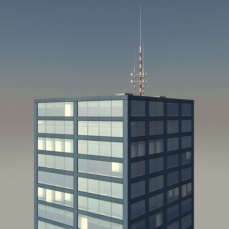 Skyscraper 11 - Day And Night royalty-free 3d model - Preview no. 9