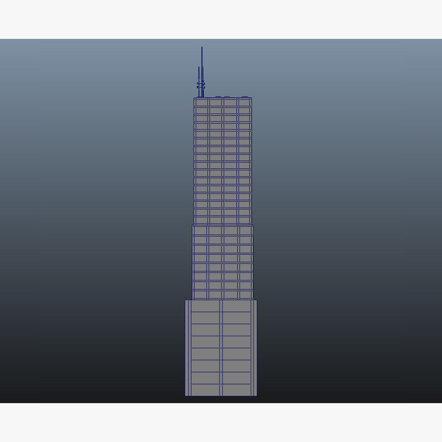 Skyscraper 11 - Day And Night royalty-free 3d model - Preview no. 19
