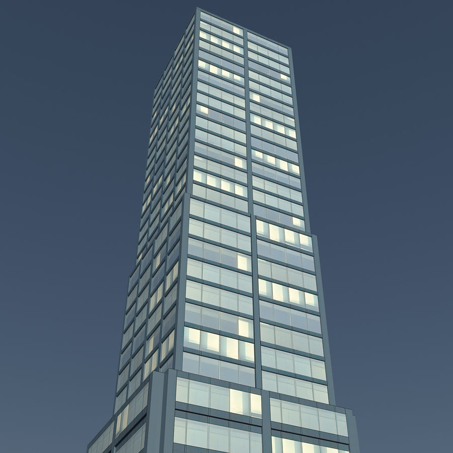 Skyscraper 11 - Day And Night royalty-free 3d model - Preview no. 7