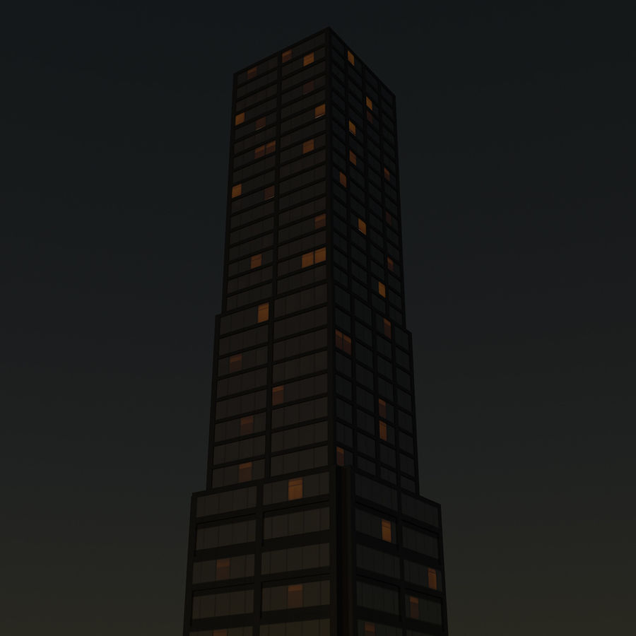 Skyscraper 11 - Day And Night royalty-free 3d model - Preview no. 16