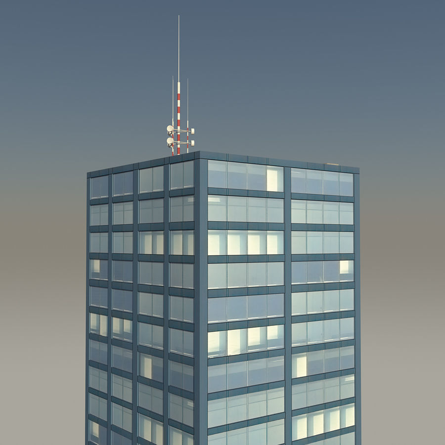 Skyscraper 11 - Day And Night royalty-free 3d model - Preview no. 8