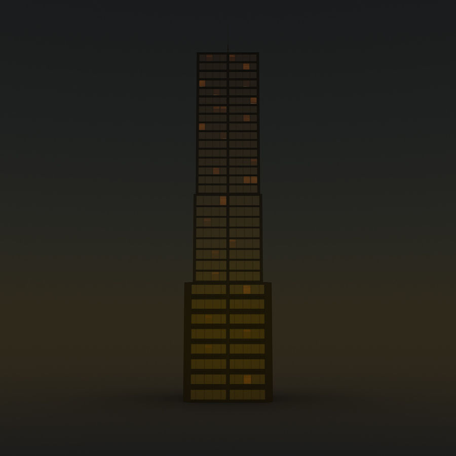 Skyscraper 11 - Day And Night royalty-free 3d model - Preview no. 15