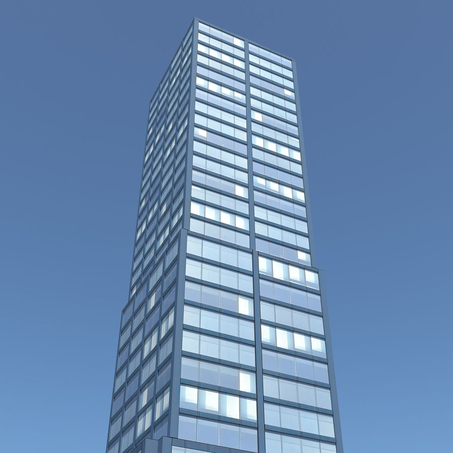 Skyscraper 11 - Day And Night royalty-free 3d model - Preview no. 5