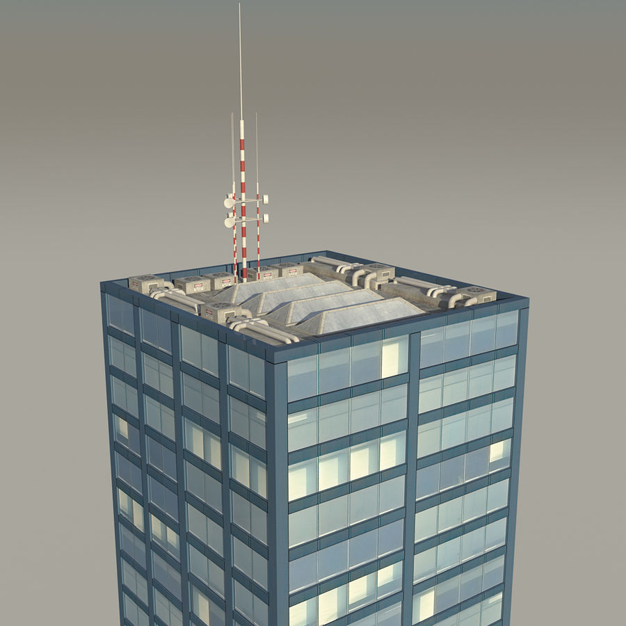 Skyscraper 11 - Day And Night royalty-free 3d model - Preview no. 10