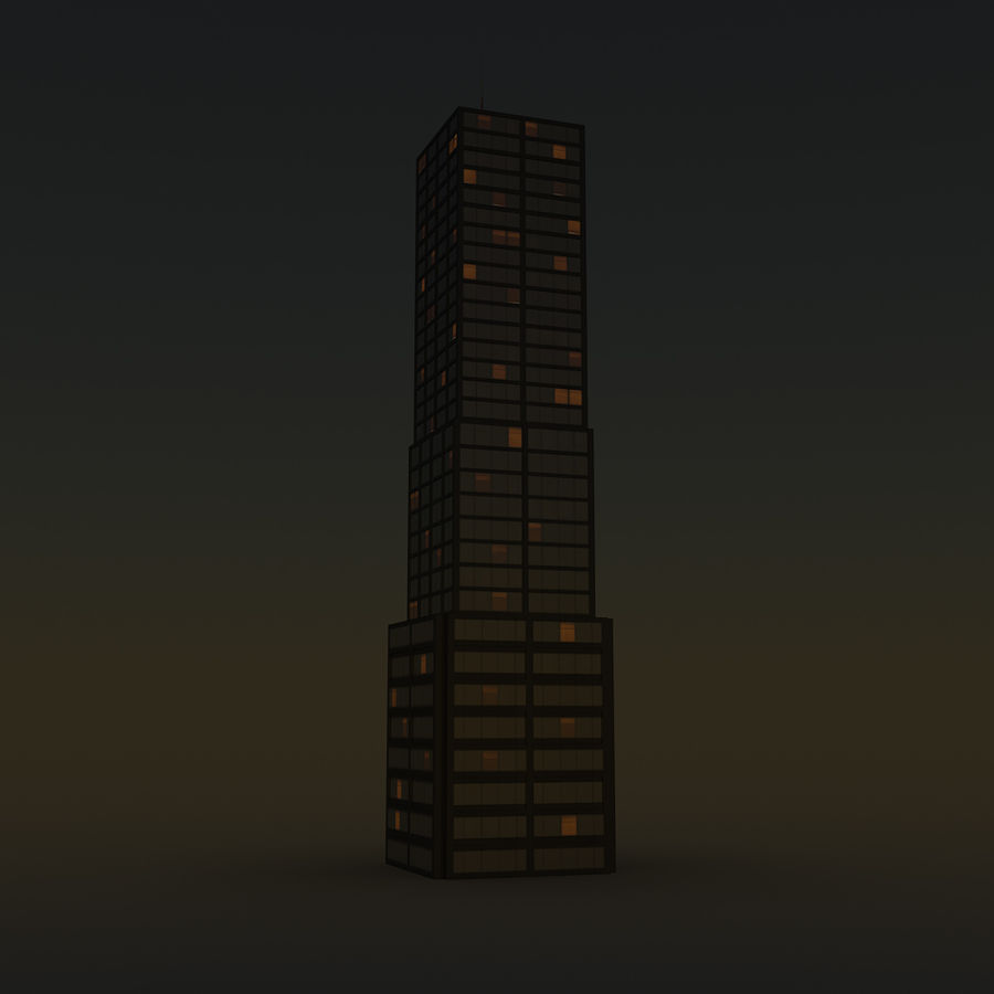 Skyscraper 11 - Day And Night royalty-free 3d model - Preview no. 13