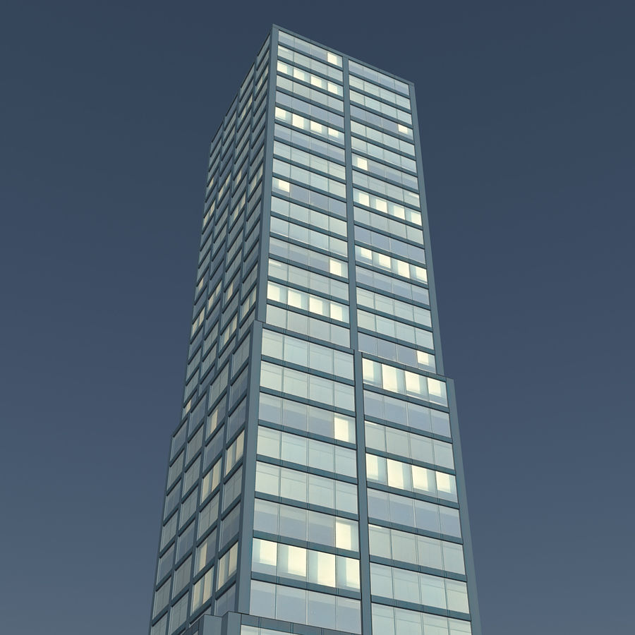 Skyscraper 11 - Day And Night royalty-free 3d model - Preview no. 6