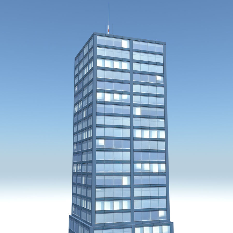 Skyscraper 11 - Day And Night royalty-free 3d model - Preview no. 3