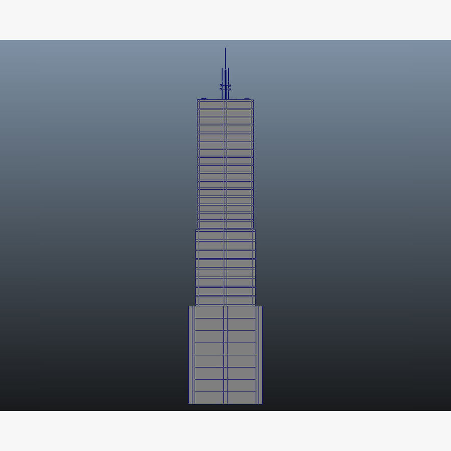 Skyscraper 11 - Day And Night royalty-free 3d model - Preview no. 18