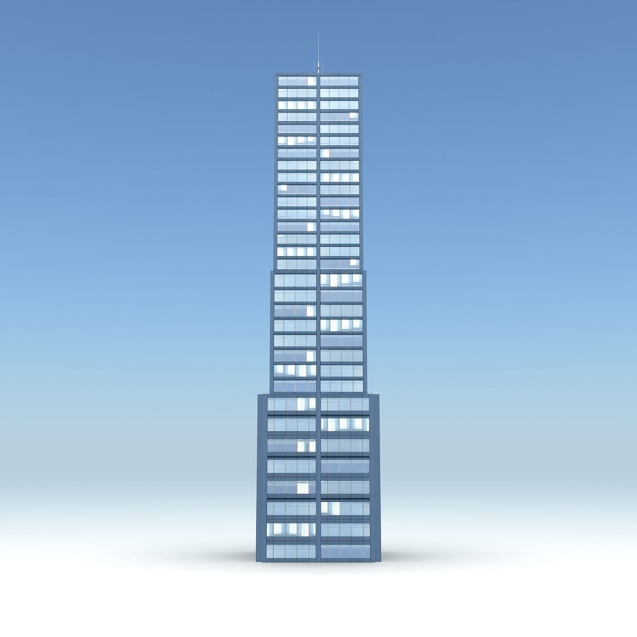 Skyscraper 11 - Day And Night royalty-free 3d model - Preview no. 2