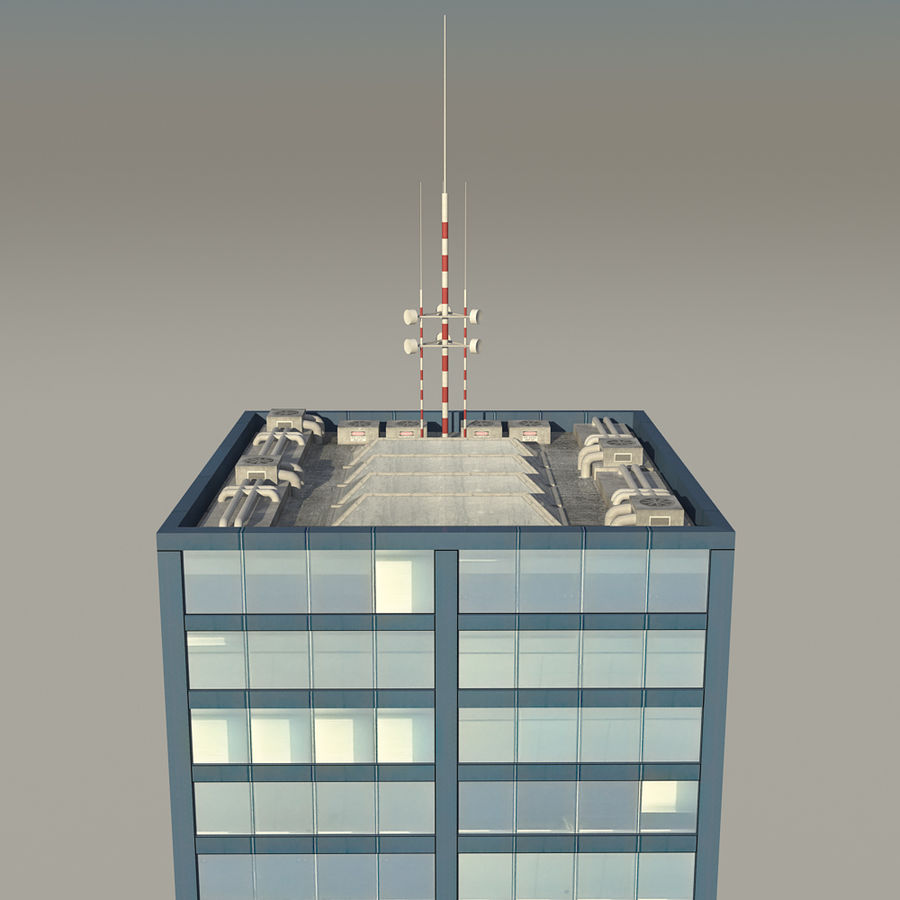 Skyscraper 11 - Day And Night royalty-free 3d model - Preview no. 11