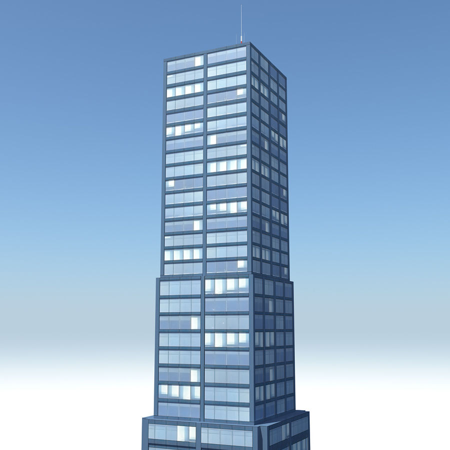 Skyscraper 11 - Day And Night royalty-free 3d model - Preview no. 4