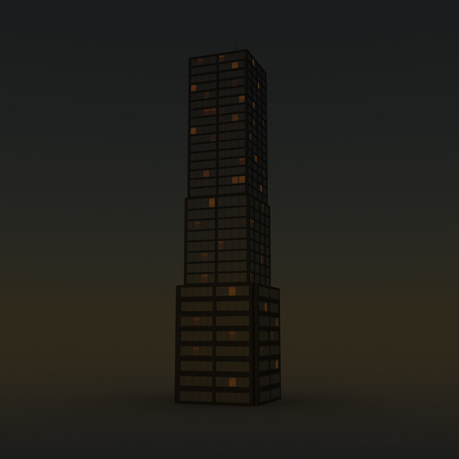 Skyscraper 11 - Day And Night royalty-free 3d model - Preview no. 14
