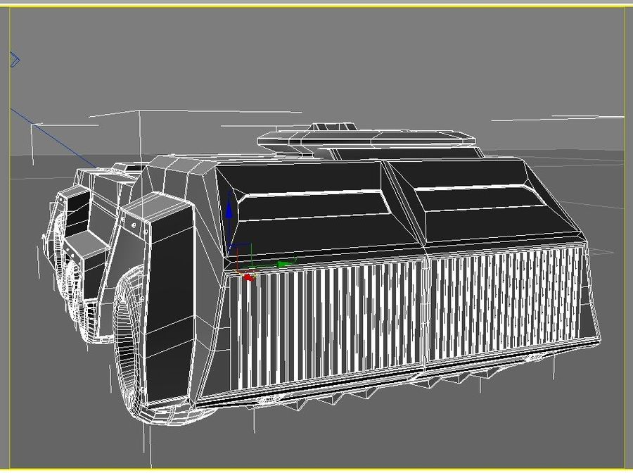 armored car royalty-free 3d model - Preview no. 3