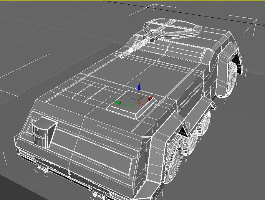 armored car royalty-free 3d model - Preview no. 5