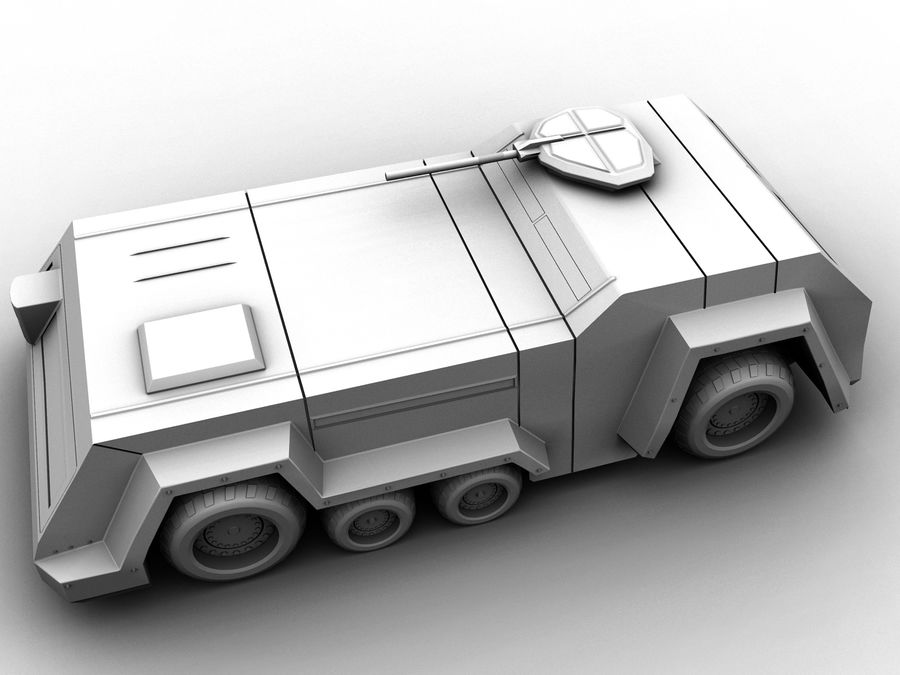 armored car royalty-free 3d model - Preview no. 1