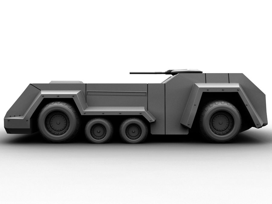 armored car royalty-free 3d model - Preview no. 2