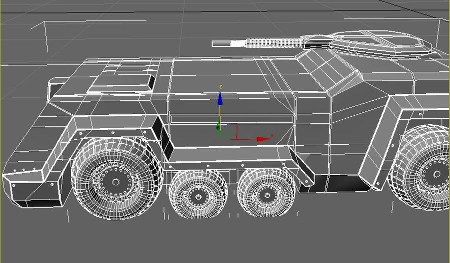 armored car royalty-free 3d model - Preview no. 4