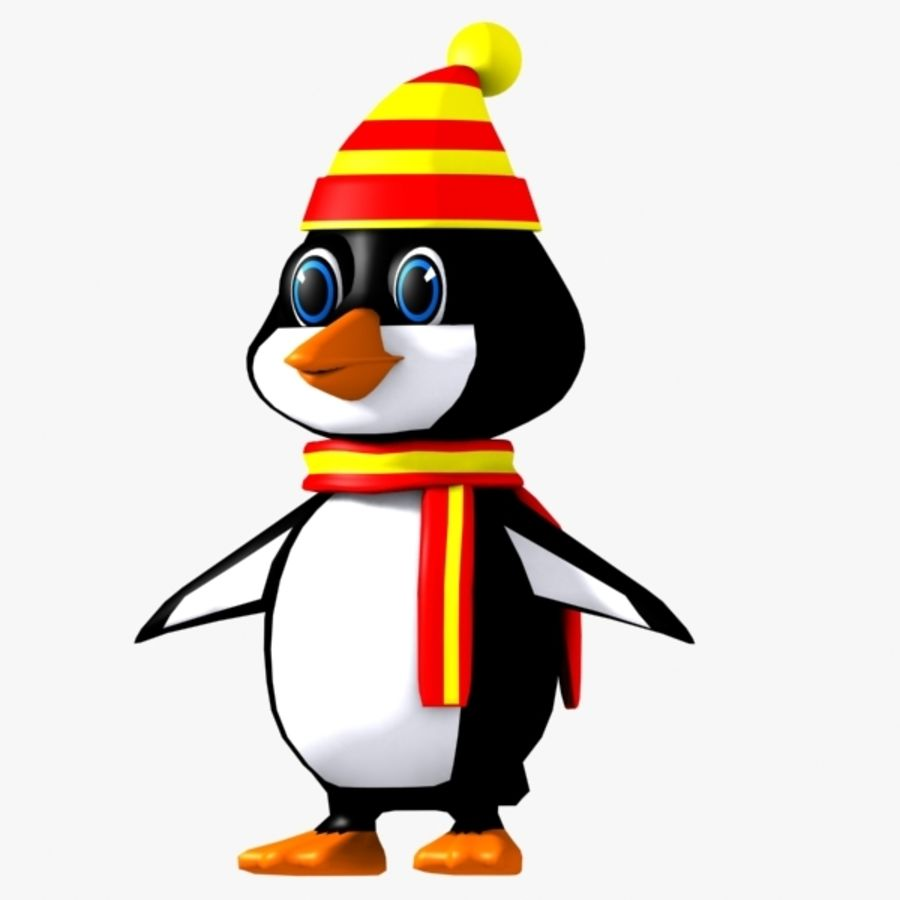 Penguin Character royalty-free 3d model - Preview no. 6