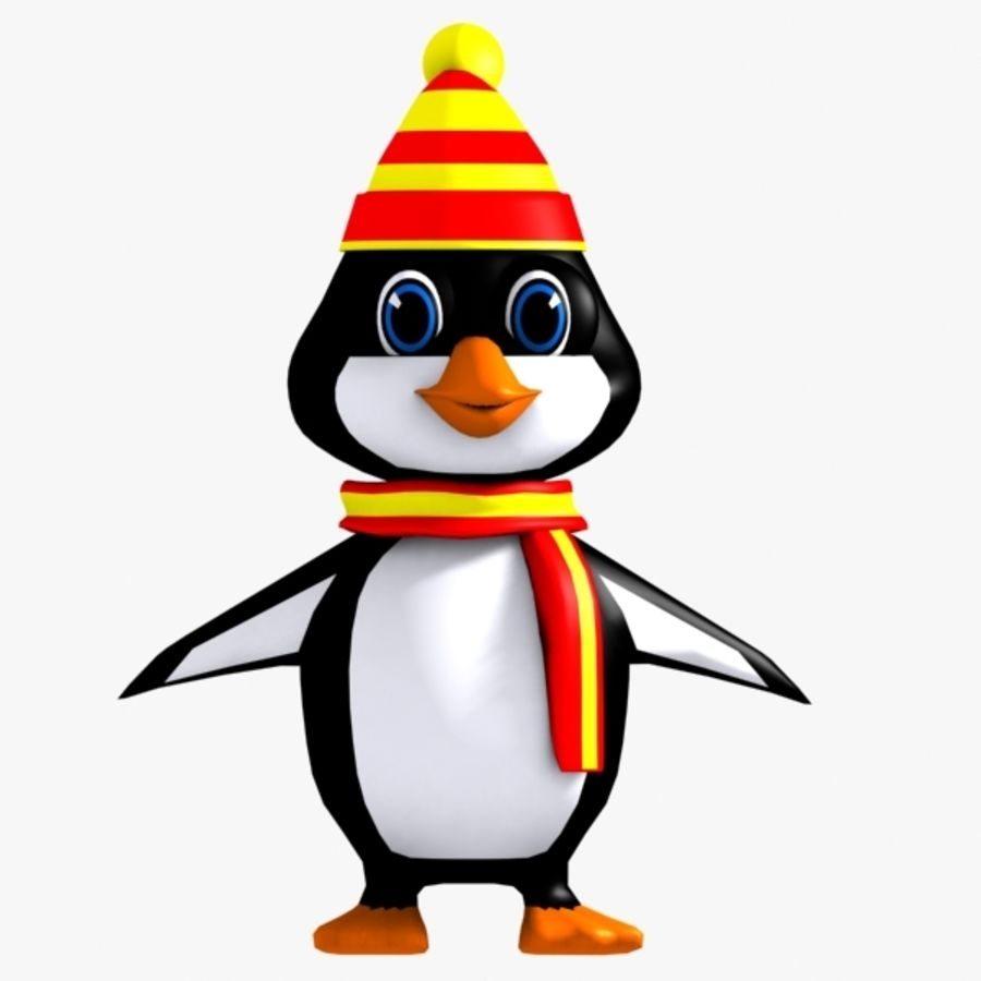 Penguin Character royalty-free 3d model - Preview no. 1