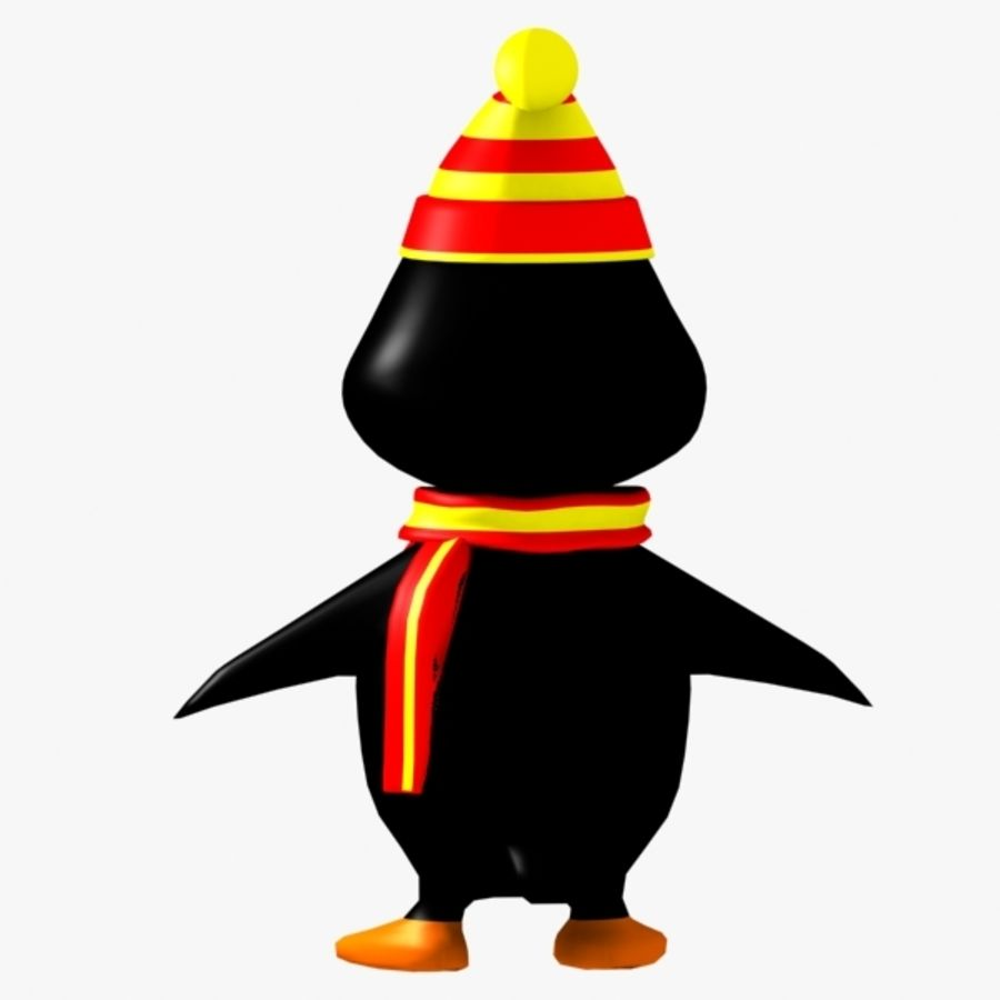 Penguin Character royalty-free 3d model - Preview no. 5