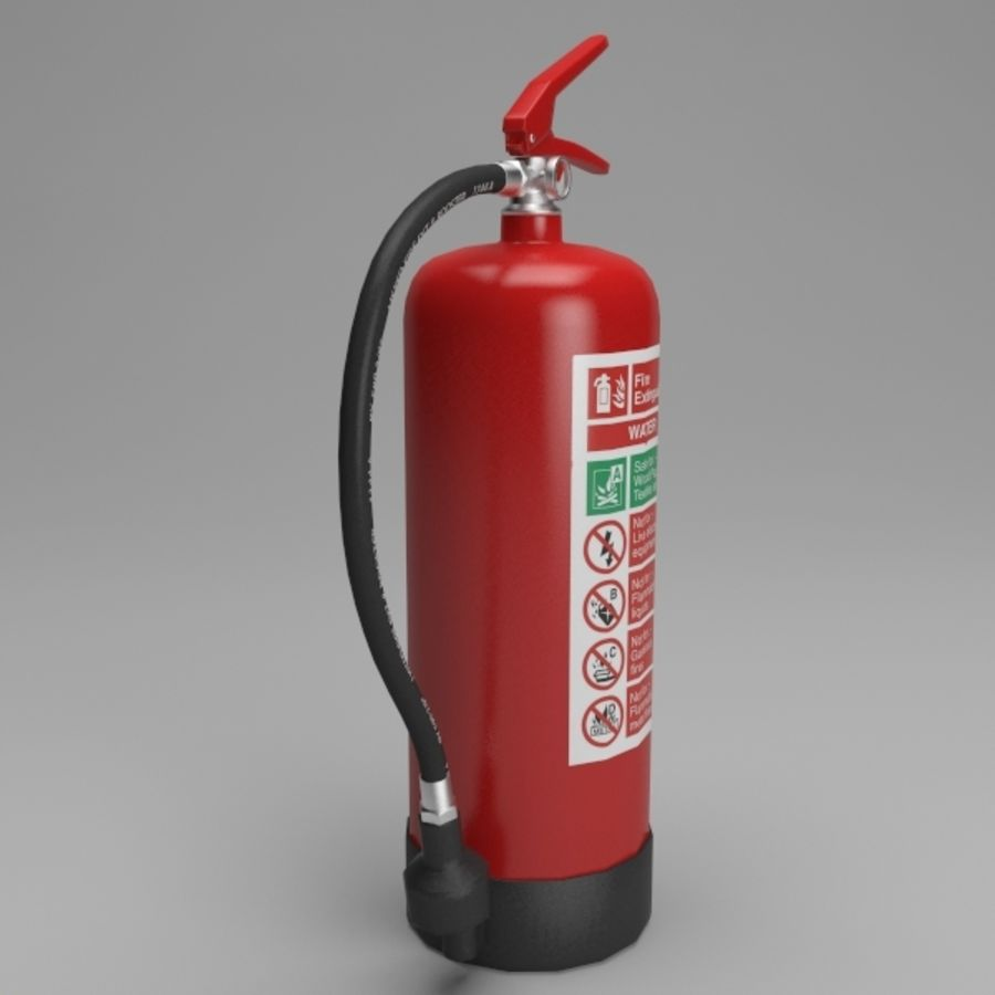 extintor de incêndio royalty-free 3d model - Preview no. 5