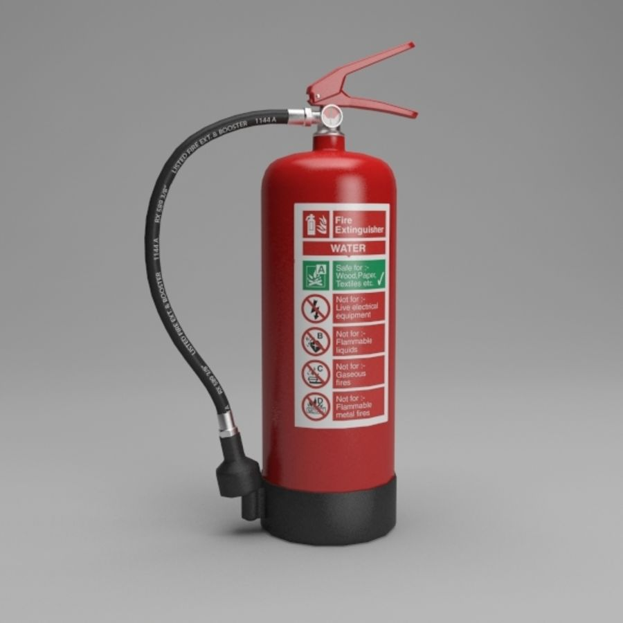 extintor de incêndio royalty-free 3d model - Preview no. 2