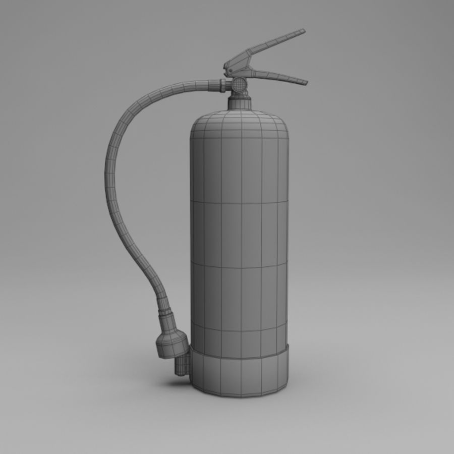 extintor de incêndio royalty-free 3d model - Preview no. 7