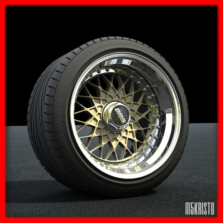 BBS RS royalty-free 3d model - Preview no. 1