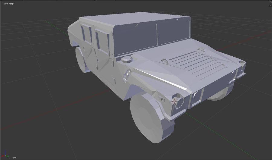 Humvee (sin textura) royalty-free modelo 3d - Preview no. 4