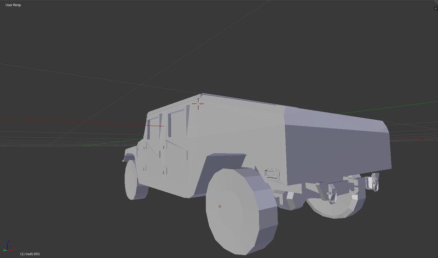 Humvee (sin textura) royalty-free modelo 3d - Preview no. 6