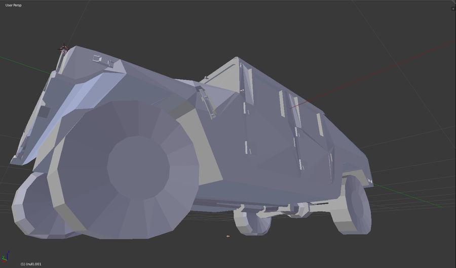 Humvee (sin textura) royalty-free modelo 3d - Preview no. 7