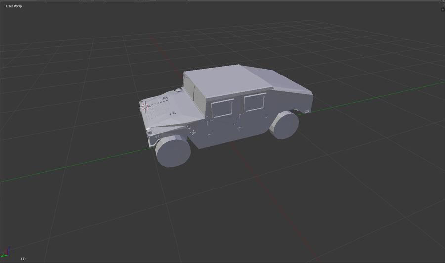 Humvee (sin textura) royalty-free modelo 3d - Preview no. 3