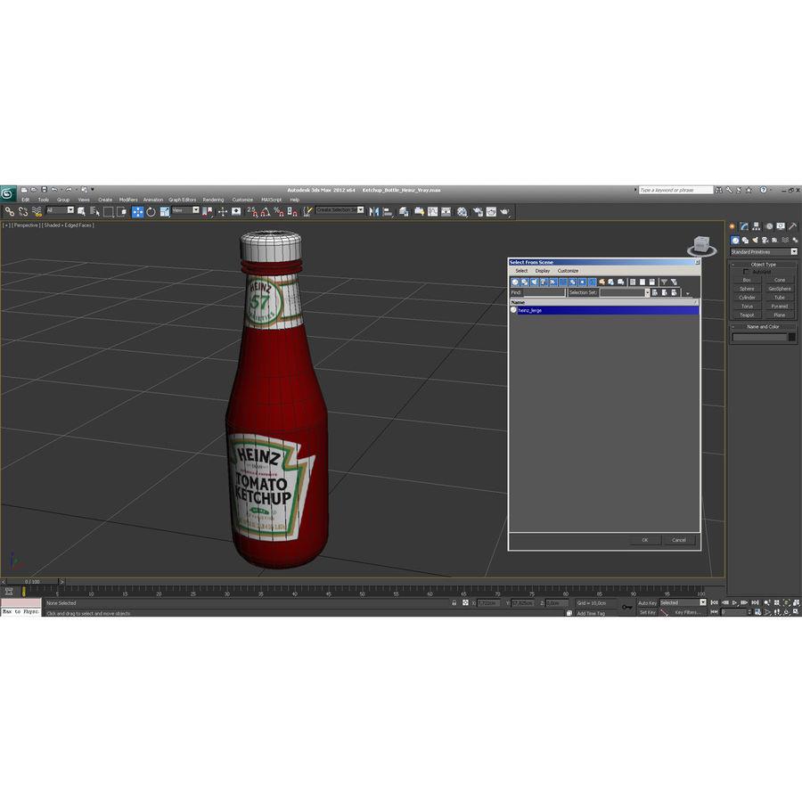 Ketçap Şişesi Heinz royalty-free 3d model - Preview no. 14