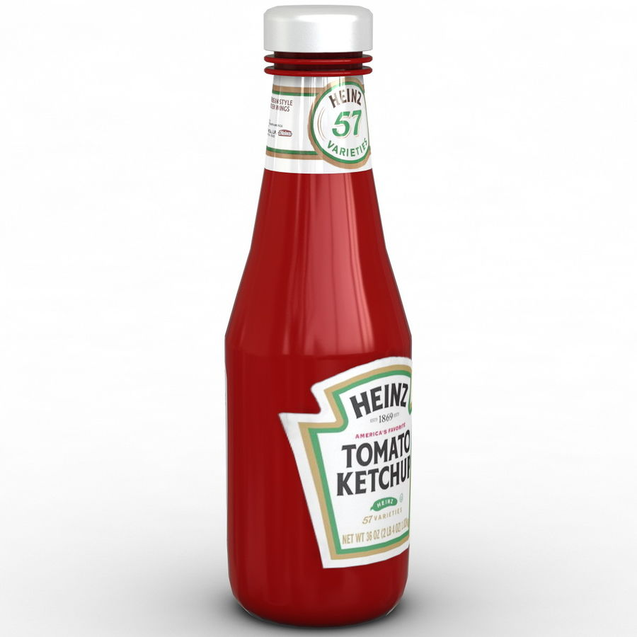 Ketçap Şişesi Heinz royalty-free 3d model - Preview no. 4
