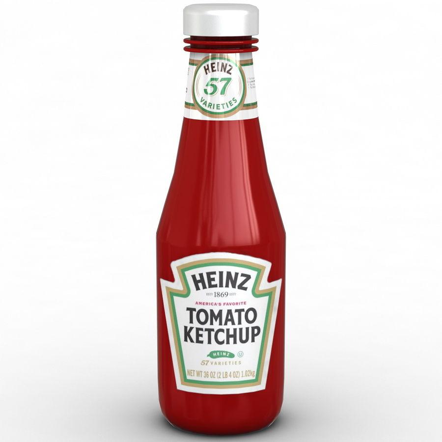 Ketçap Şişesi Heinz royalty-free 3d model - Preview no. 3