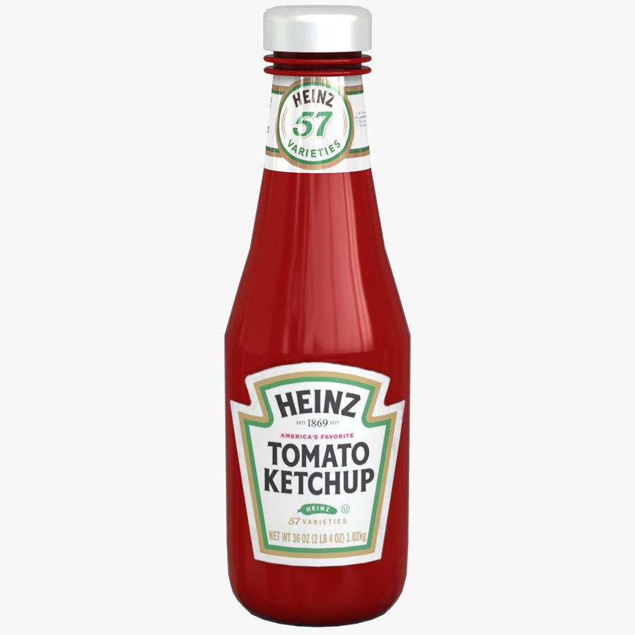Ketçap Şişesi Heinz royalty-free 3d model - Preview no. 1