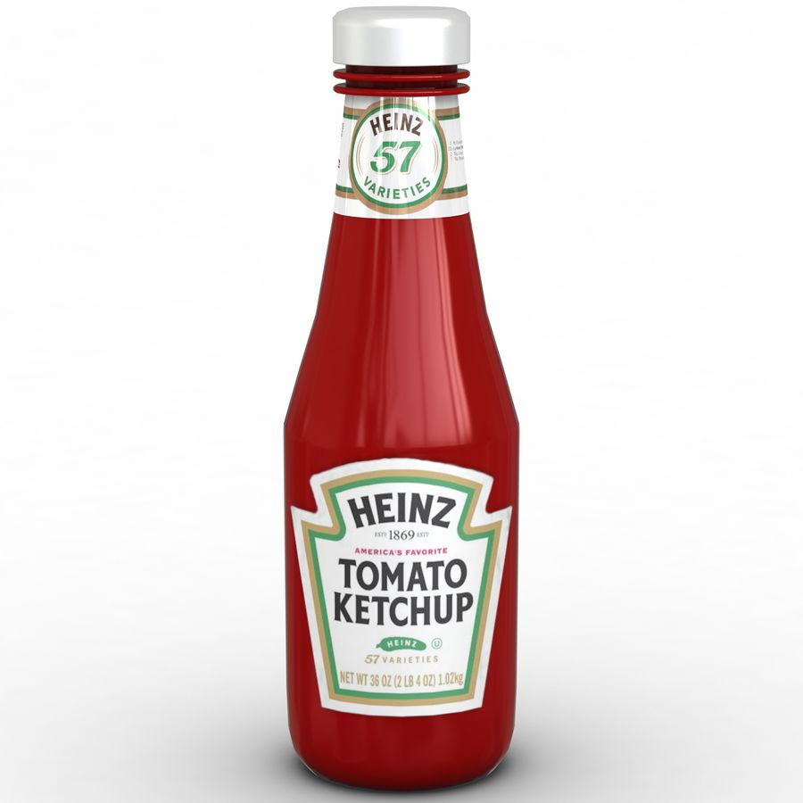 Ketçap Şişesi Heinz royalty-free 3d model - Preview no. 2