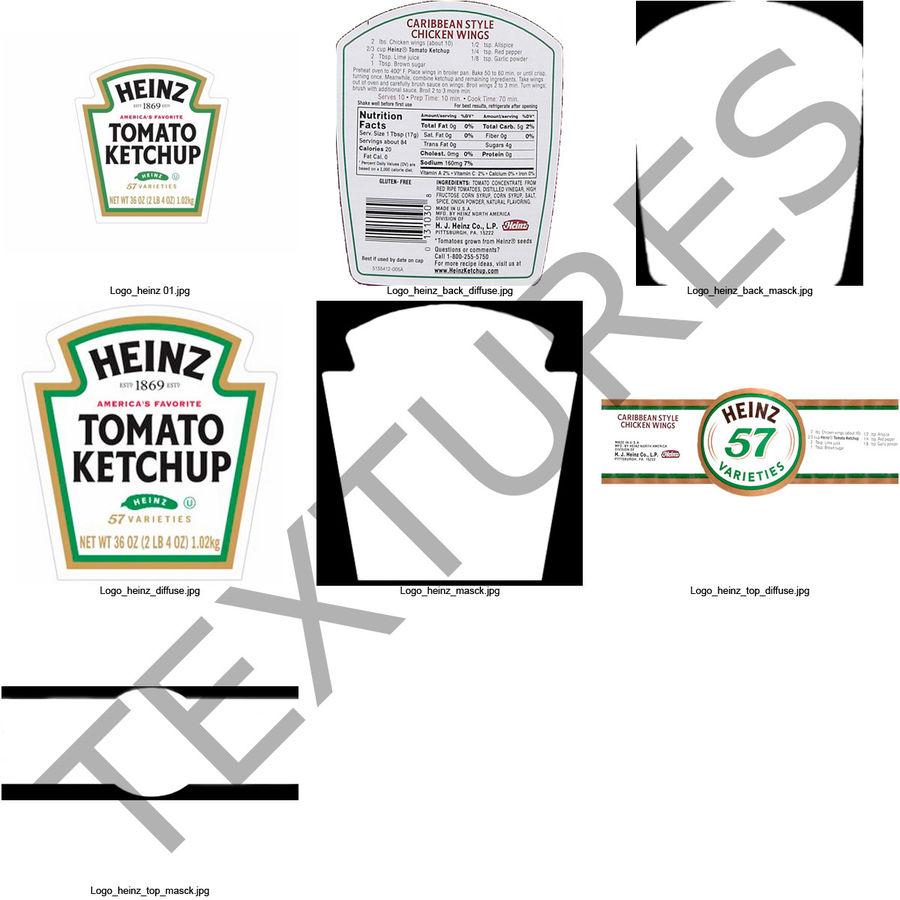 Ketçap Şişesi Heinz royalty-free 3d model - Preview no. 13
