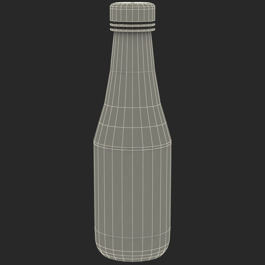 Ketçap Şişesi Heinz royalty-free 3d model - Preview no. 8