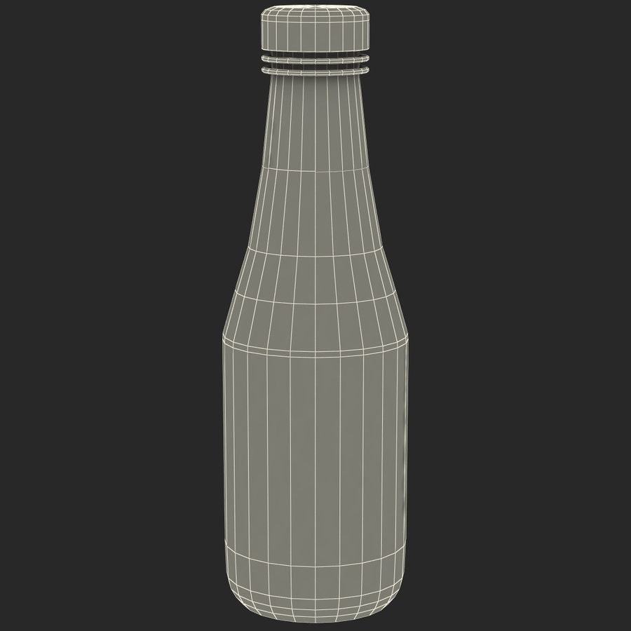 Ketçap Şişesi Heinz royalty-free 3d model - Preview no. 10
