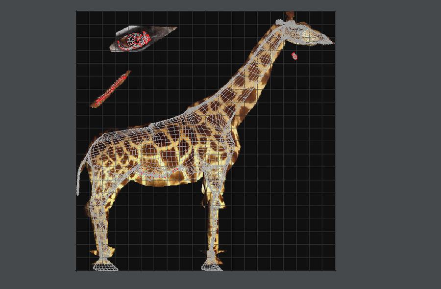 Żyrafa royalty-free 3d model - Preview no. 7