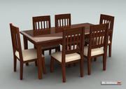 식탁 세트 3d model